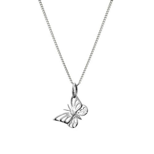 Pretty Butterfly Pendant Necklace Sterling Silver 925 Hallmark All Chain Lengths
